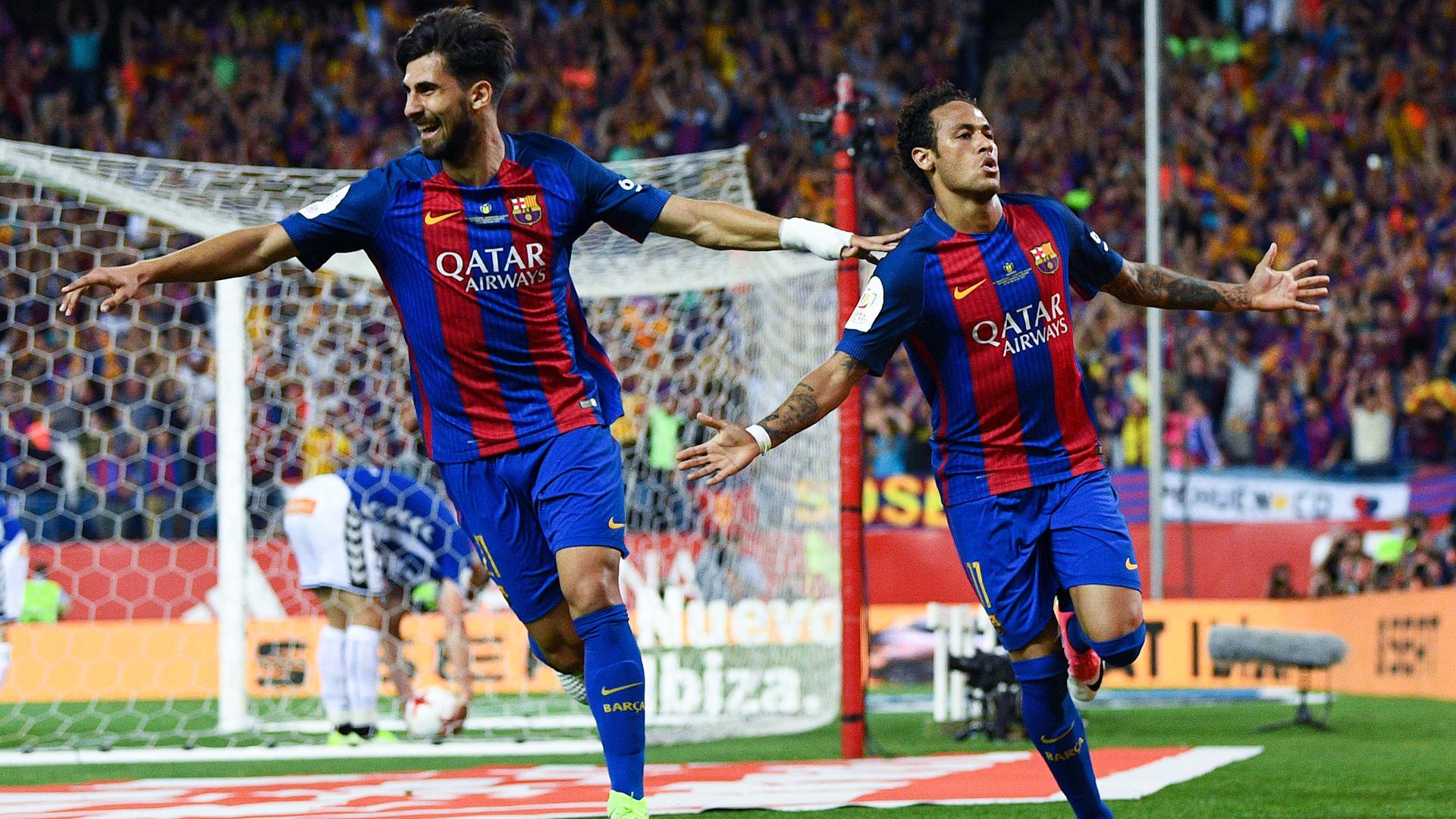 Gomes, Neymar, Barcelona - Alaves, 27052017