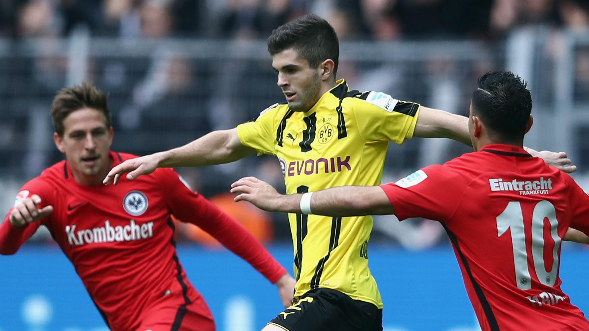Christian Pulisic Borussia Dortmund Eintracht Frankfurt Bundesliga 041517