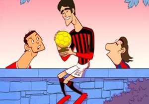 Salah satu pemain terbaik yang pernah beraksi di lapangan hijau, Kaka, akhirnya memutuskan untuk gantung sepatu. Berikut goresan kartunis Goal Internasional, Omar Momani, untuk momen tersebut.
