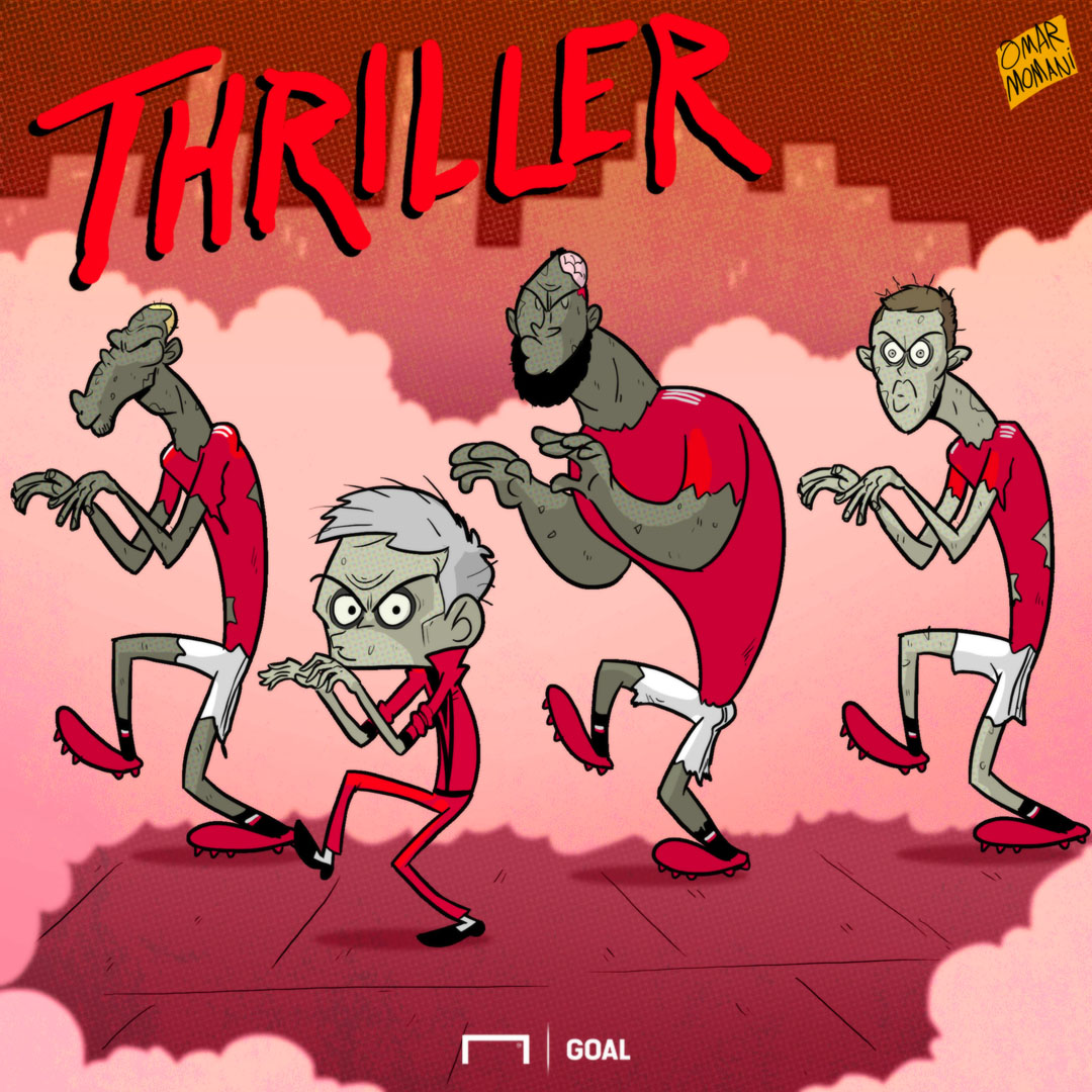 Man Utd Thriller Cartoon