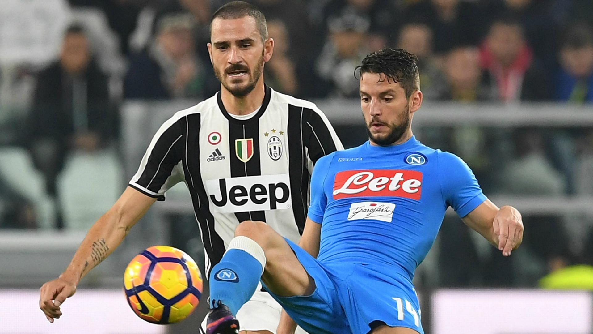 Leonardo Bonucci Dries Mertens Juventus Napoli Serie A 2016-17