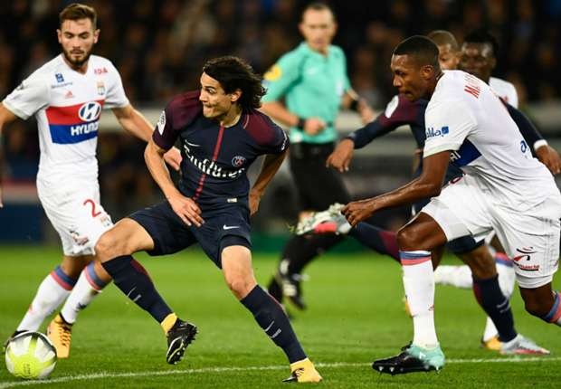 Edinson Cavani Marcelo PSG Lyon Ligue 1 17092017
