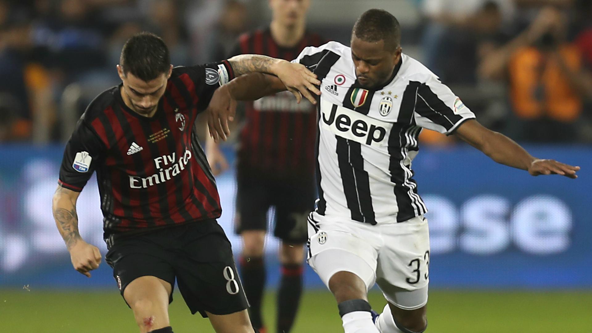 Patrice Evra Juventus Milan Italian Supercup 23122016
