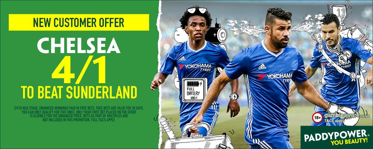 GFX Chelsea Sunderland enhanced betting