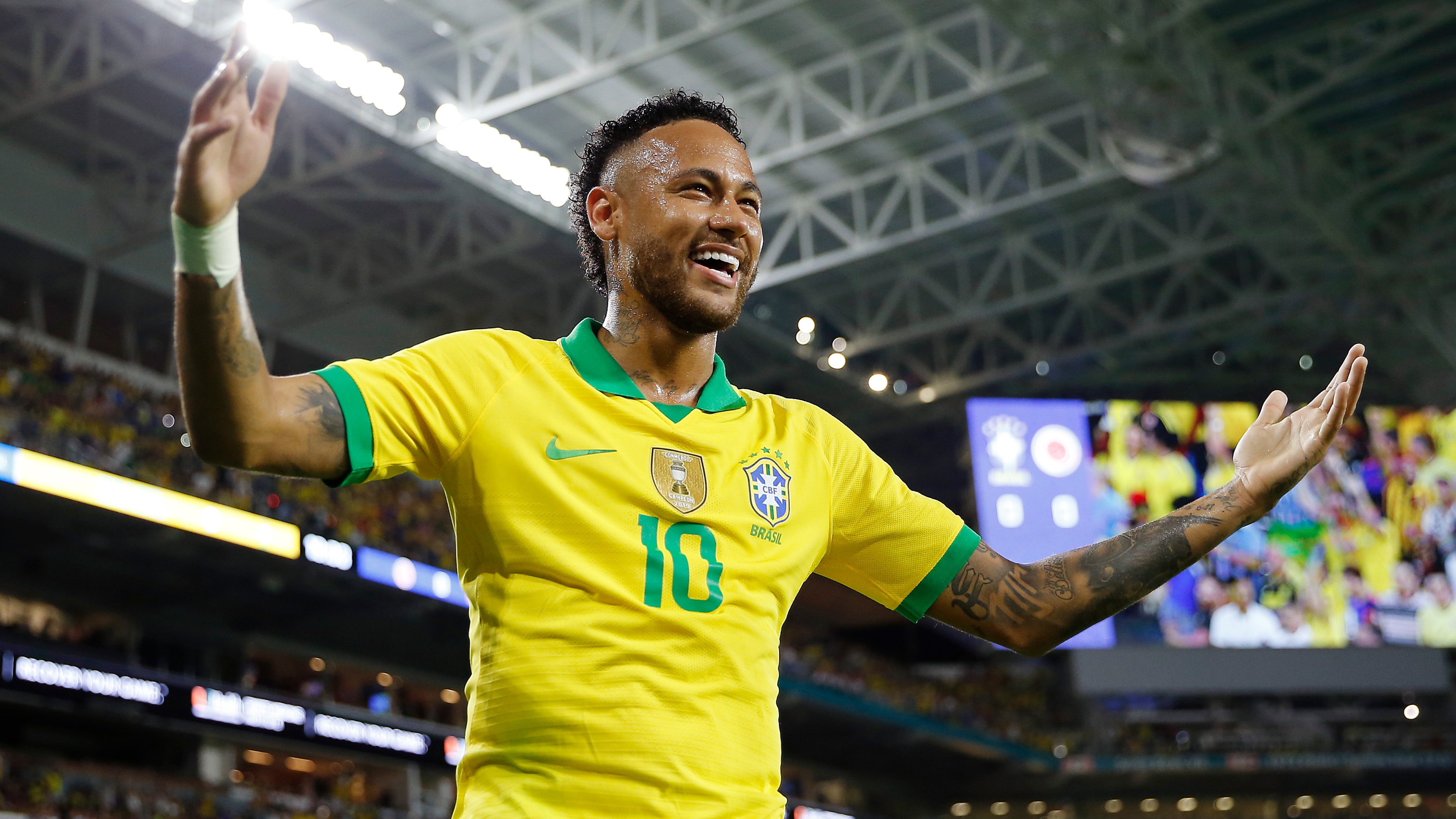 Neymar scores for Brazil in first match for three months