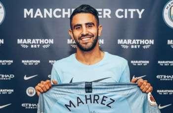 Benjamin Mendy welcomes Riyad Mahrez to Manchester City