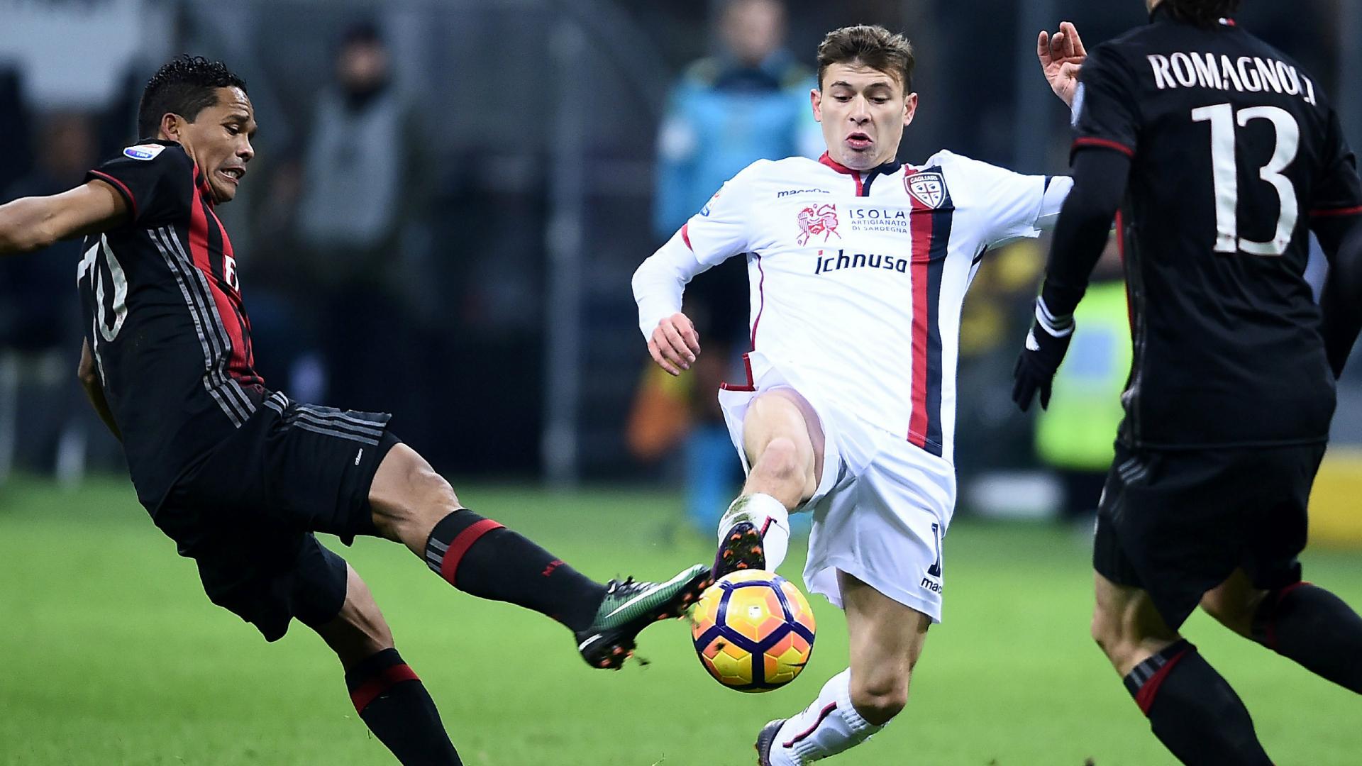 Bacca Barella Milan Cagliari Serie A