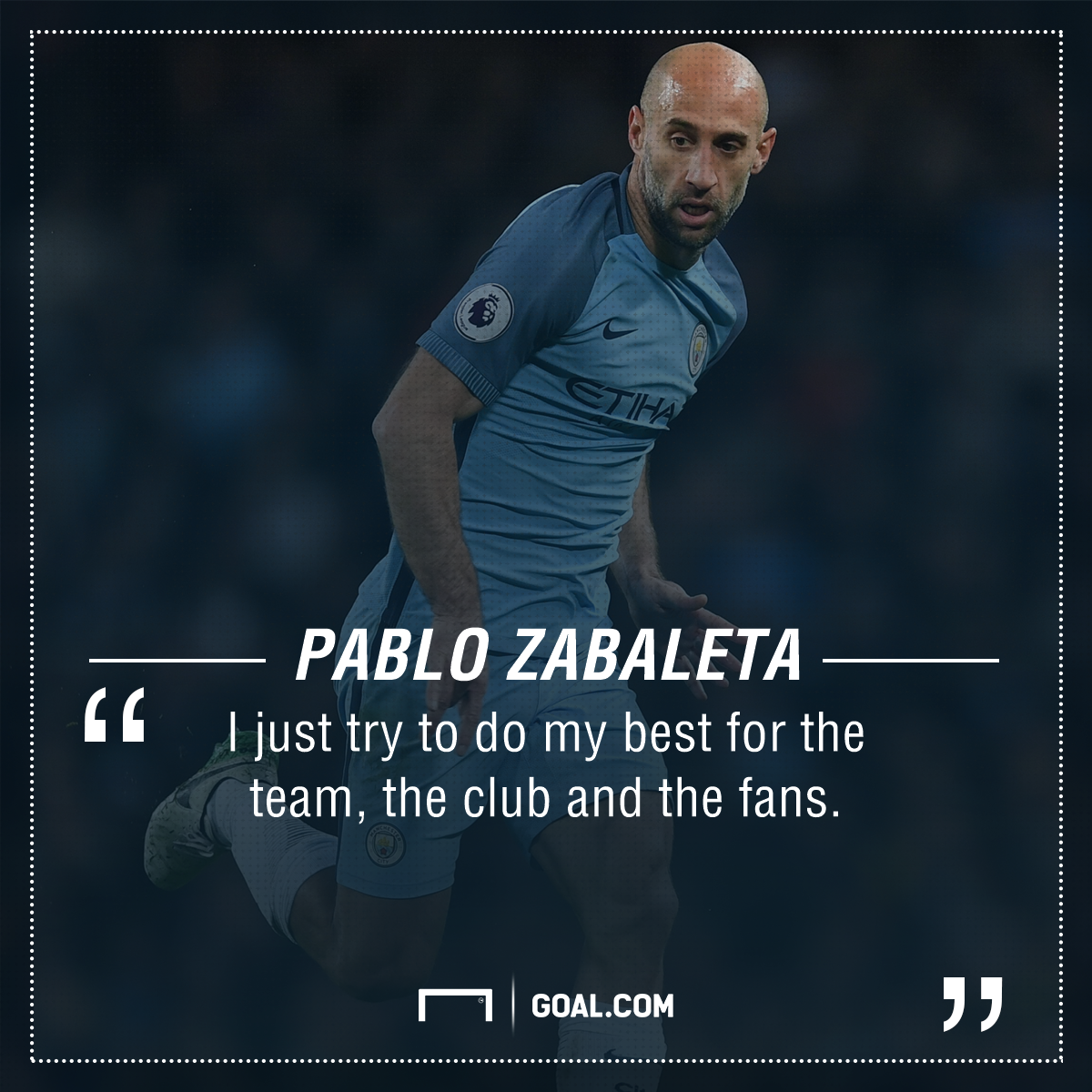 Pablo Zabaleta Manchester City PS