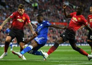 Five Africans were on parade at Old Trafford on Friday evening but it was Ghana's Eric Bailly who ended up on the winning side despite Jamie Vardy's late strike