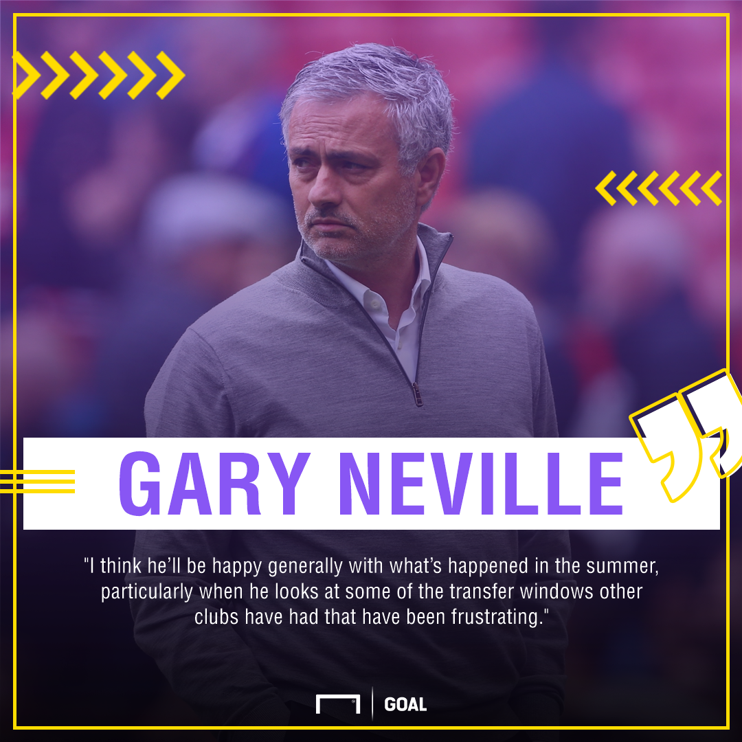 Gary Neville Jose Mourinho window 2017