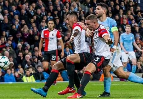 Feyenoord in slotfase onderuit bij Manchester City