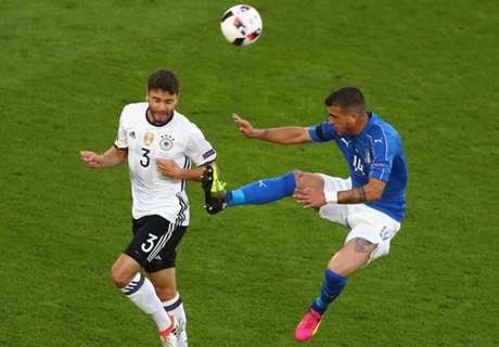 Italië - Duitsland met video-arbitrage