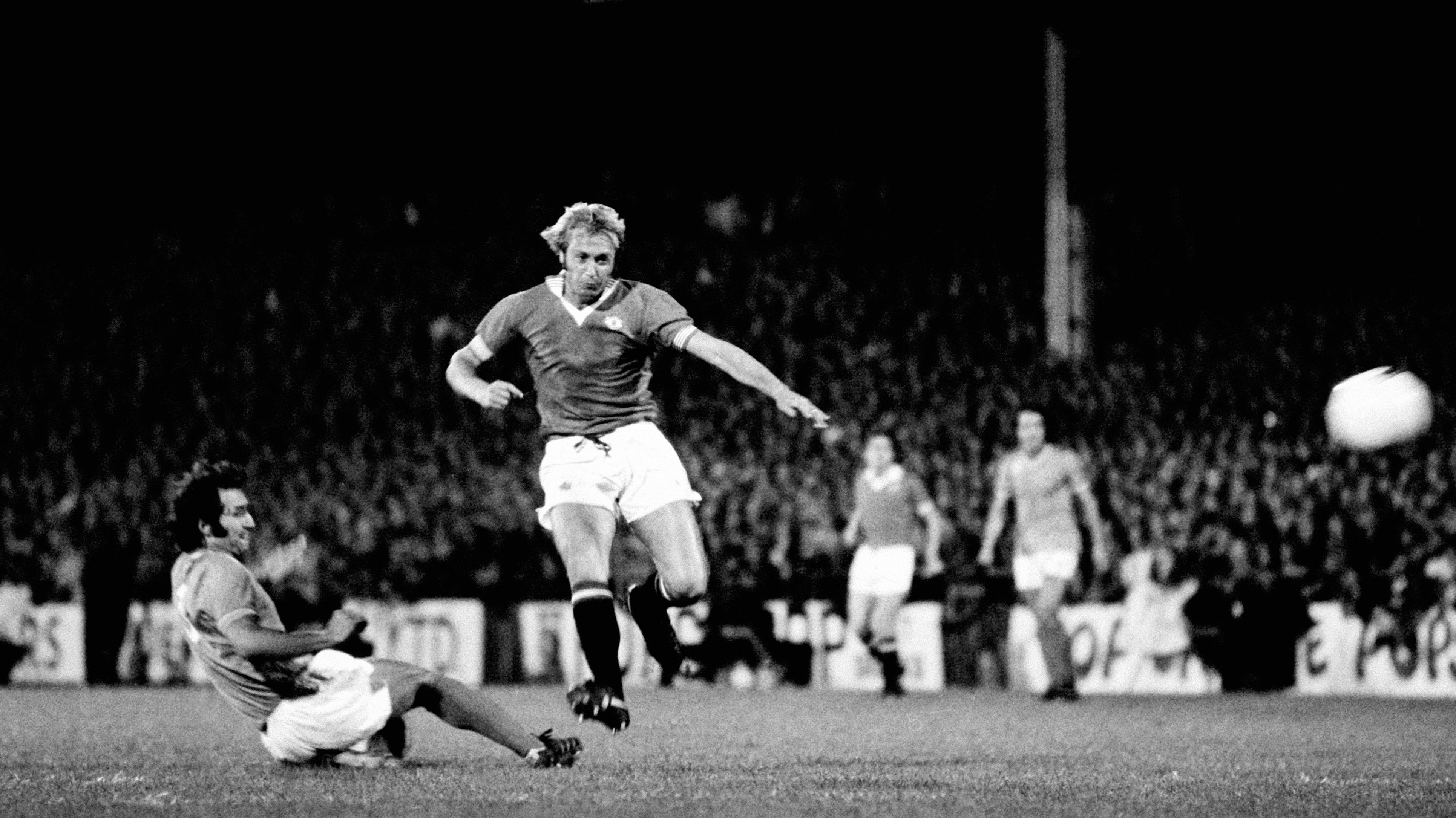 Manchester United Saint-Etienne 1977