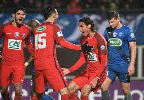 Pastore & Cavani score in PSG win
