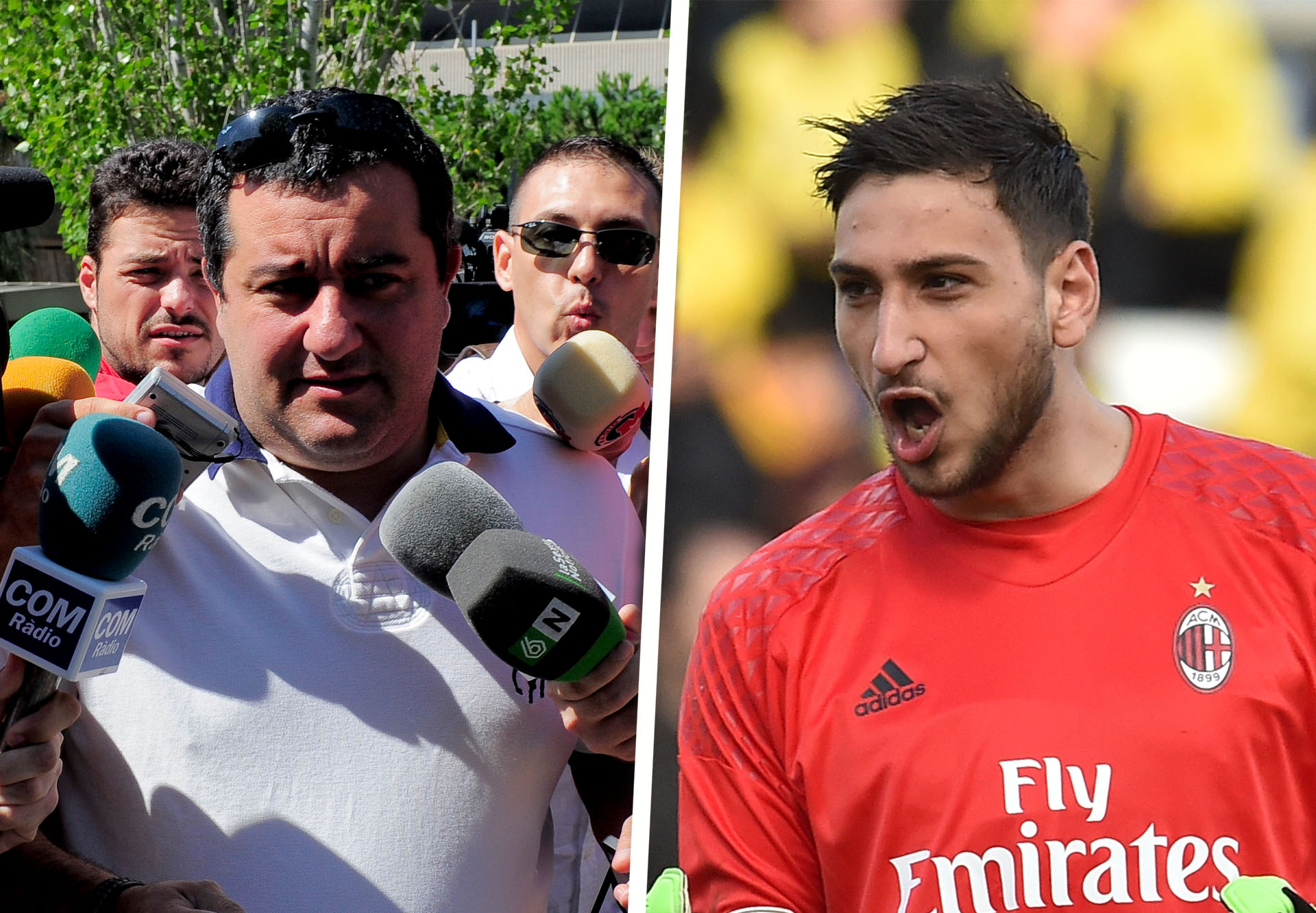 Fake money thrown at AC Milan goalkeeper Gianluigi Donnarumma
