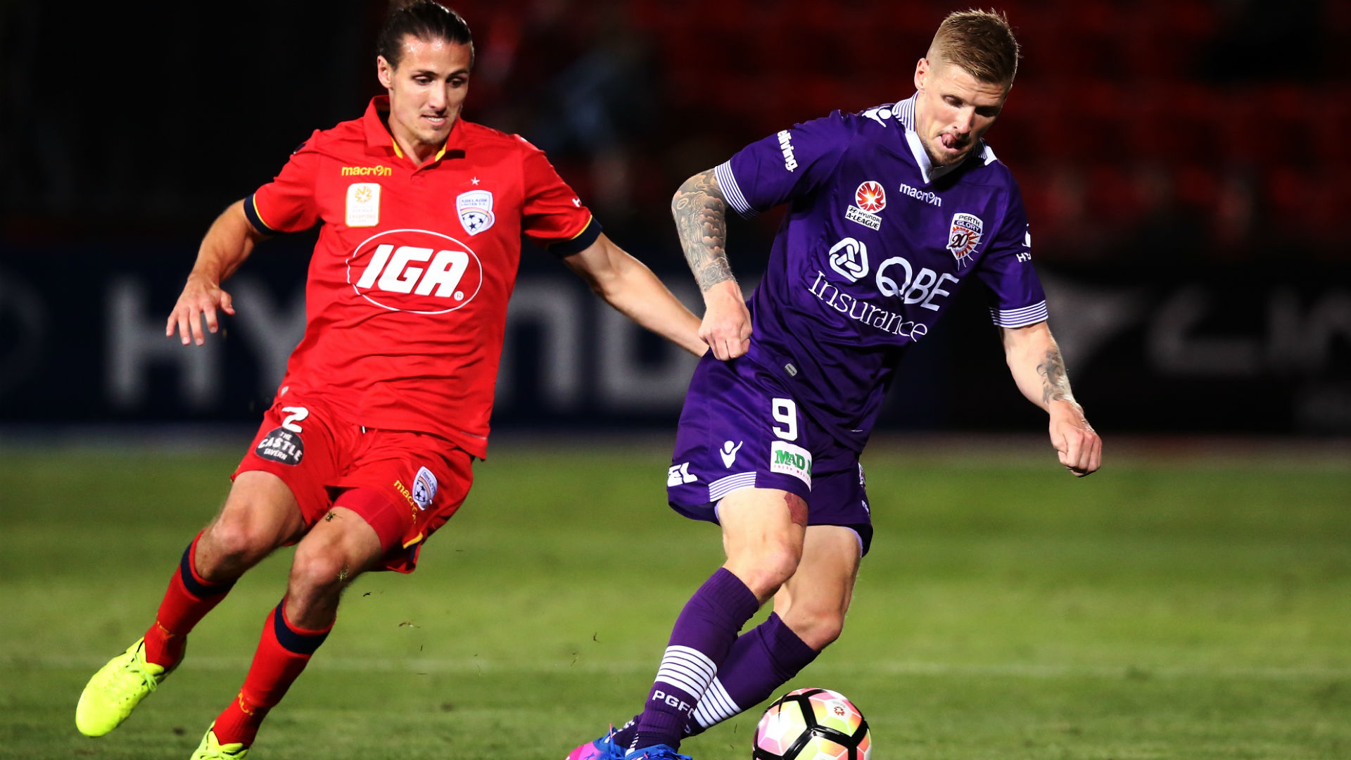 Andrew Keogh Perth Glory vs. Adelaide United