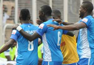 The striker netted in the eighth minute to lift the Oluyole Warriors over the People's Elephants as they moved out of relegation waters