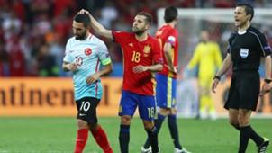 Arda Turan Jordi Alba Spain Turkey Euro 2016