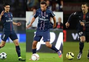 Edinson Cavani memiliki jumlah gol yang sama dengan Zlatan Ibrahimovic (156) sebagai top skor PSG sepanjang masa. Goal merangkum 15 pemain yang paling banyak mencetak gol untuk klub ibukota Prancis tersebut.