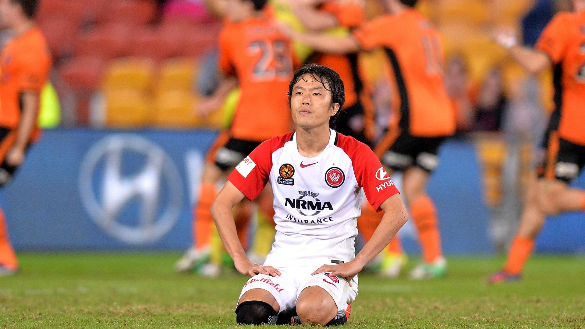 Jumpei Kusukami Brisbane Roar v Western Sydney Wanderers A-League 21042017