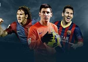 Empat gol ke gawang Eibar tengah pekan lalu menjadi hat-trick ke-43 sepanjang karir Messi di semua ajang. Goal menyajikan daftarnya untuk Anda. Apakah Anda mengingat semuanya?