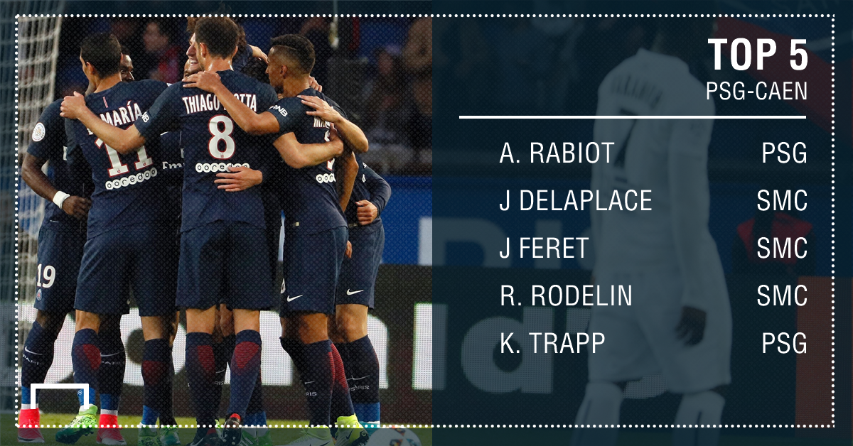 PSG-Caen - Top 5