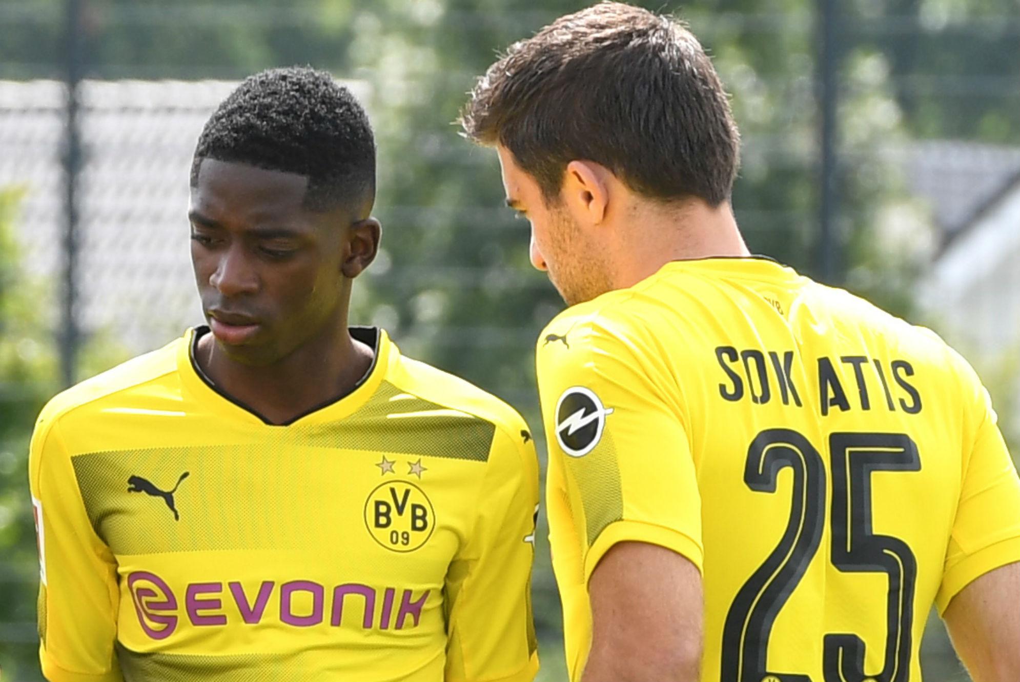 Ousmane Dembele Sokratis Borussia Dortmund