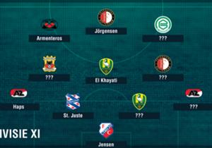 De ontknoping in de Eredivisie is nabij en ook na de 32ste speelronde kijken we naar de elf spelers die op basis van Opta-stats er bovenuit staken!