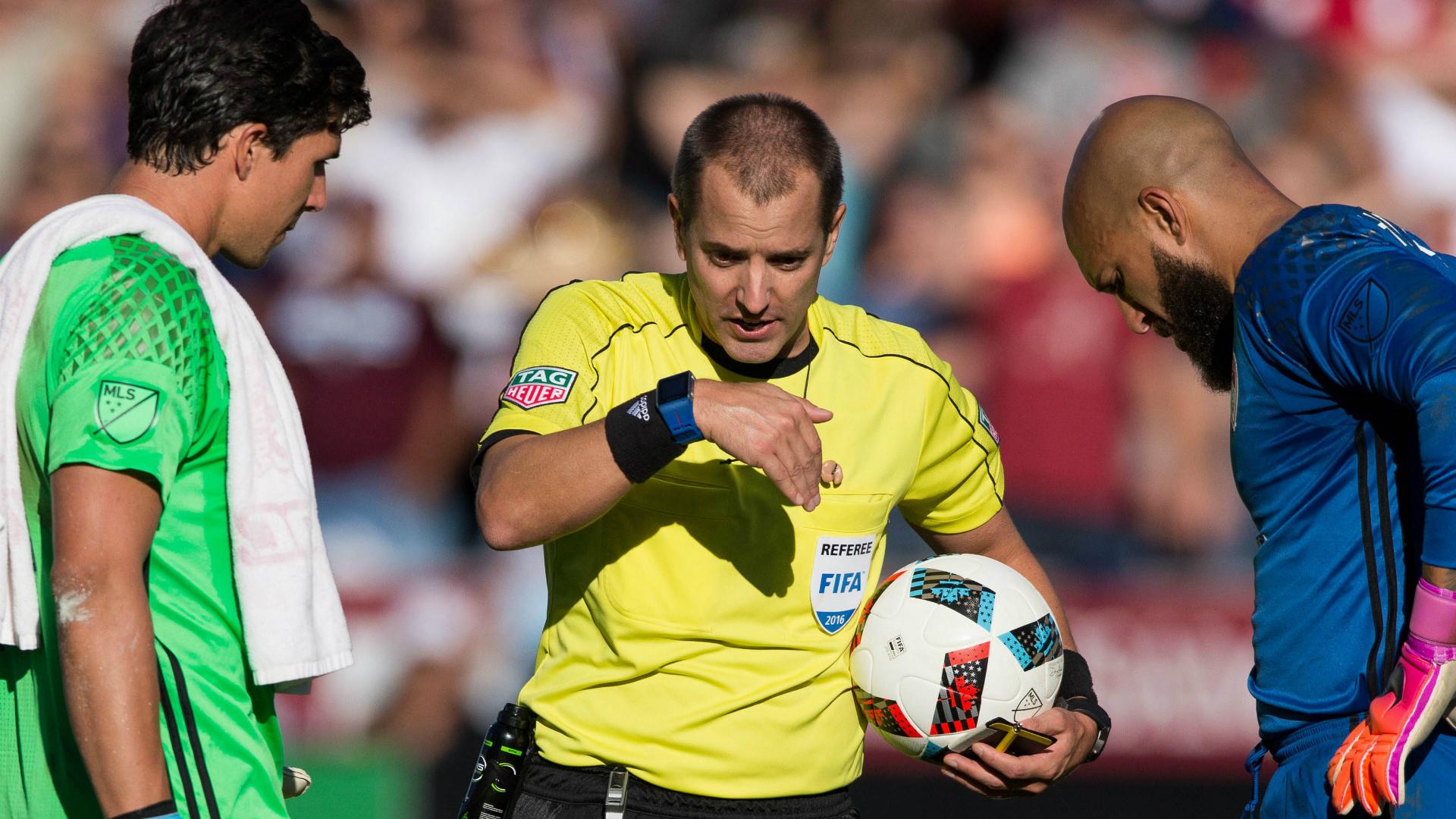 Brian Rowe Mark Geiger Tim Howard LA Galaxy Colorado Rapids