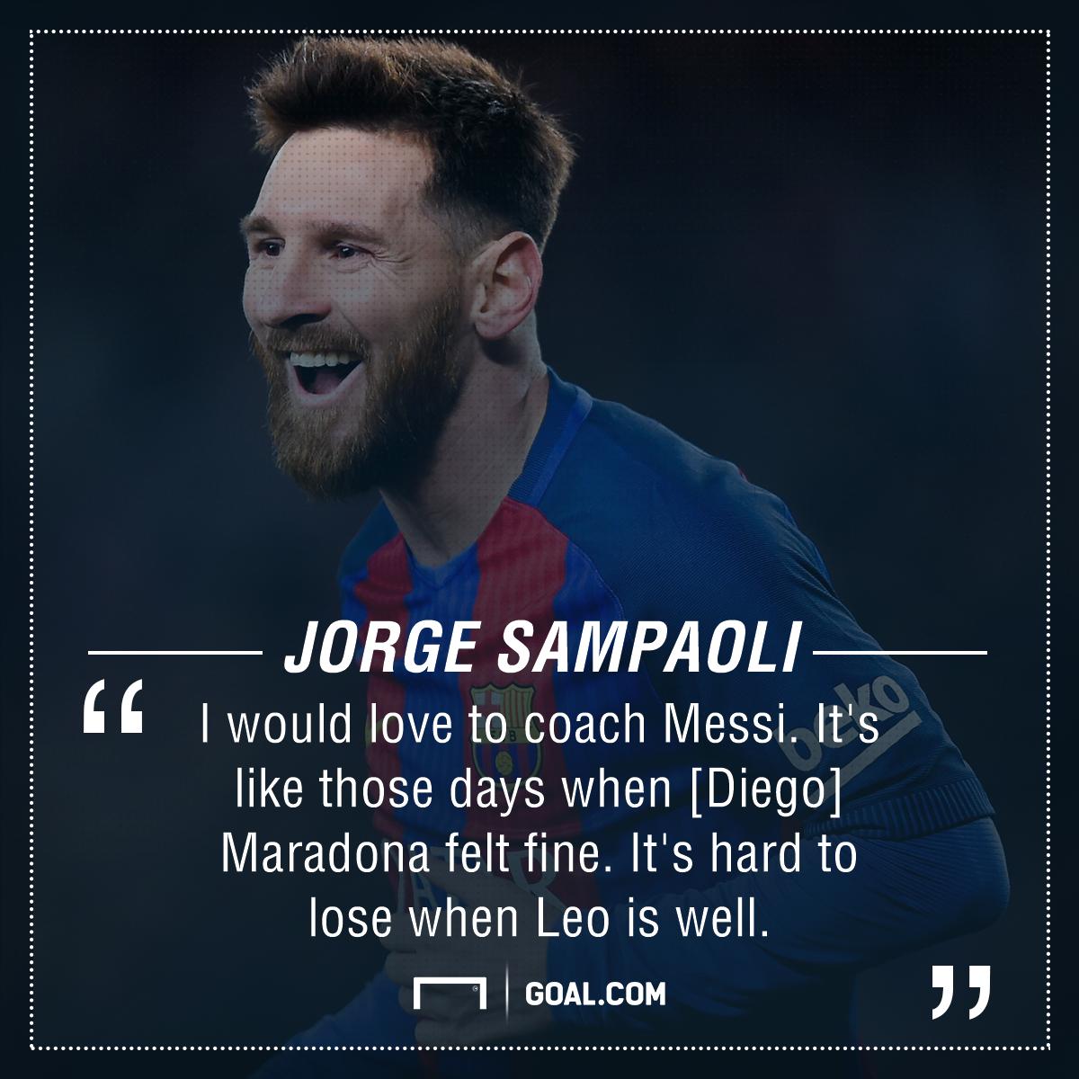 Lionel Messi Jorge Sampaoli PS