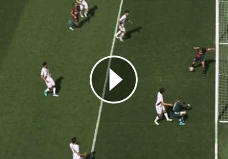 ► El particular gol de Gio Simeone