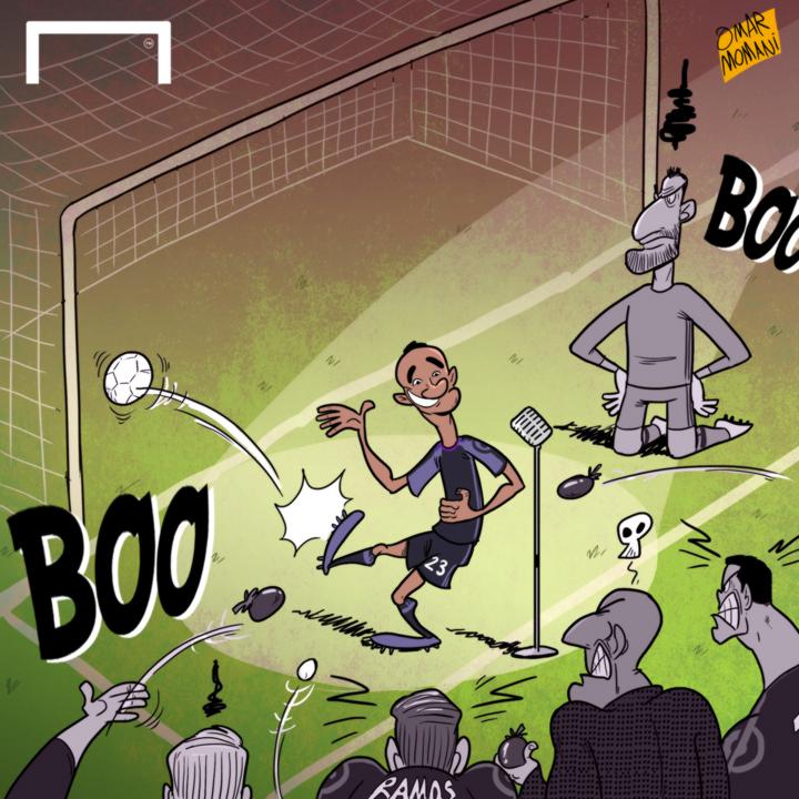 Cartoon Danilo's own goal