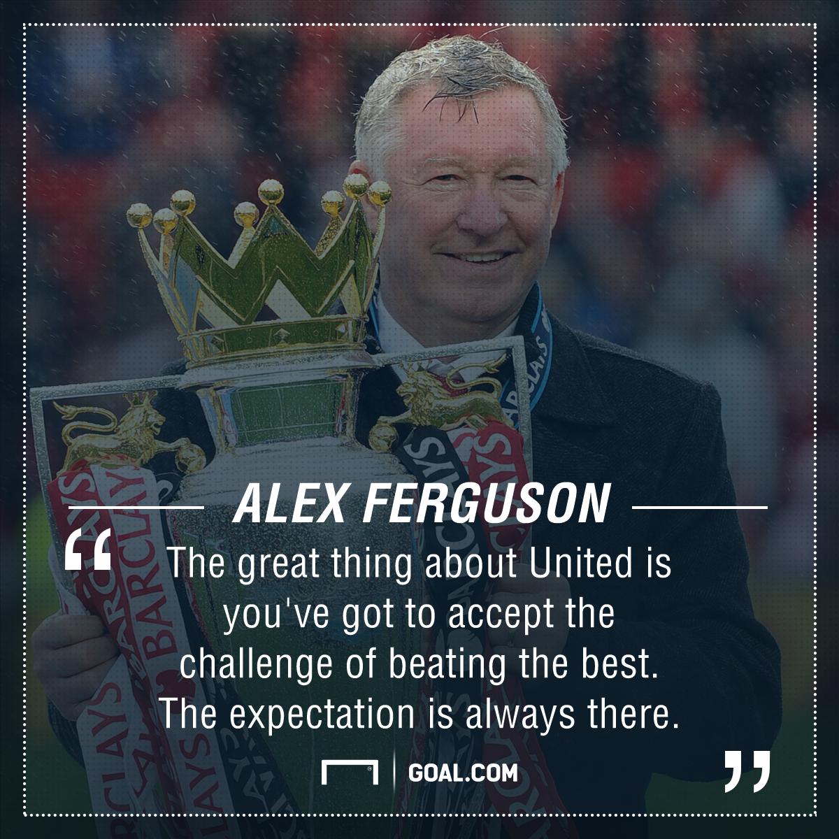 Sir Alex Ferguson Manchester United expectation