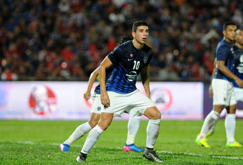 Johor Darul Ta'zim's Brian Ferreira against Kedah 20/1/2017