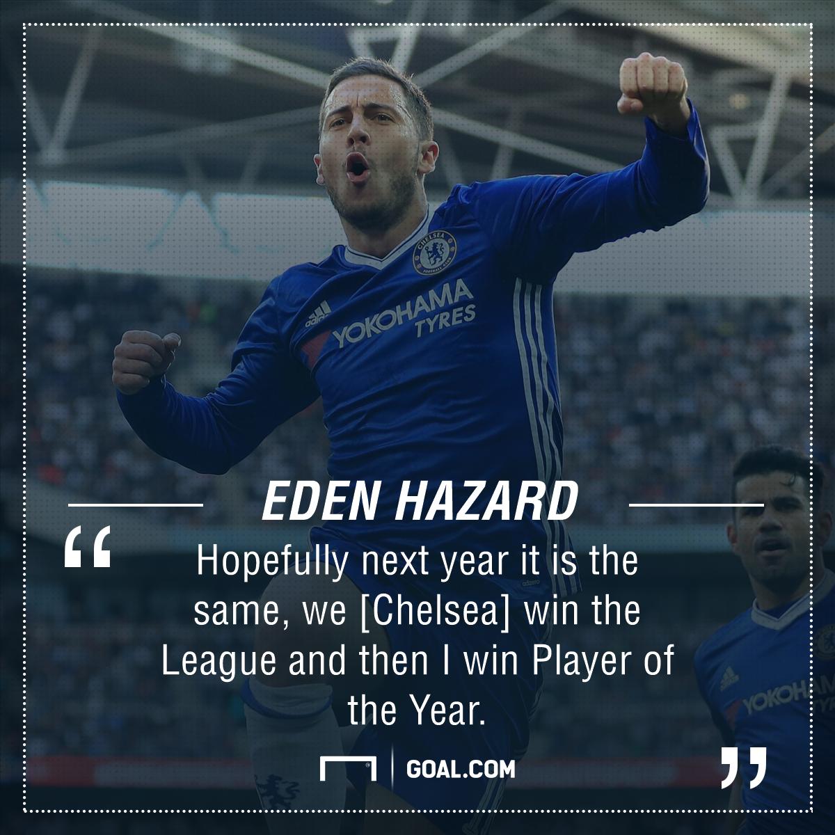 Eden Hazard Chelsea title target