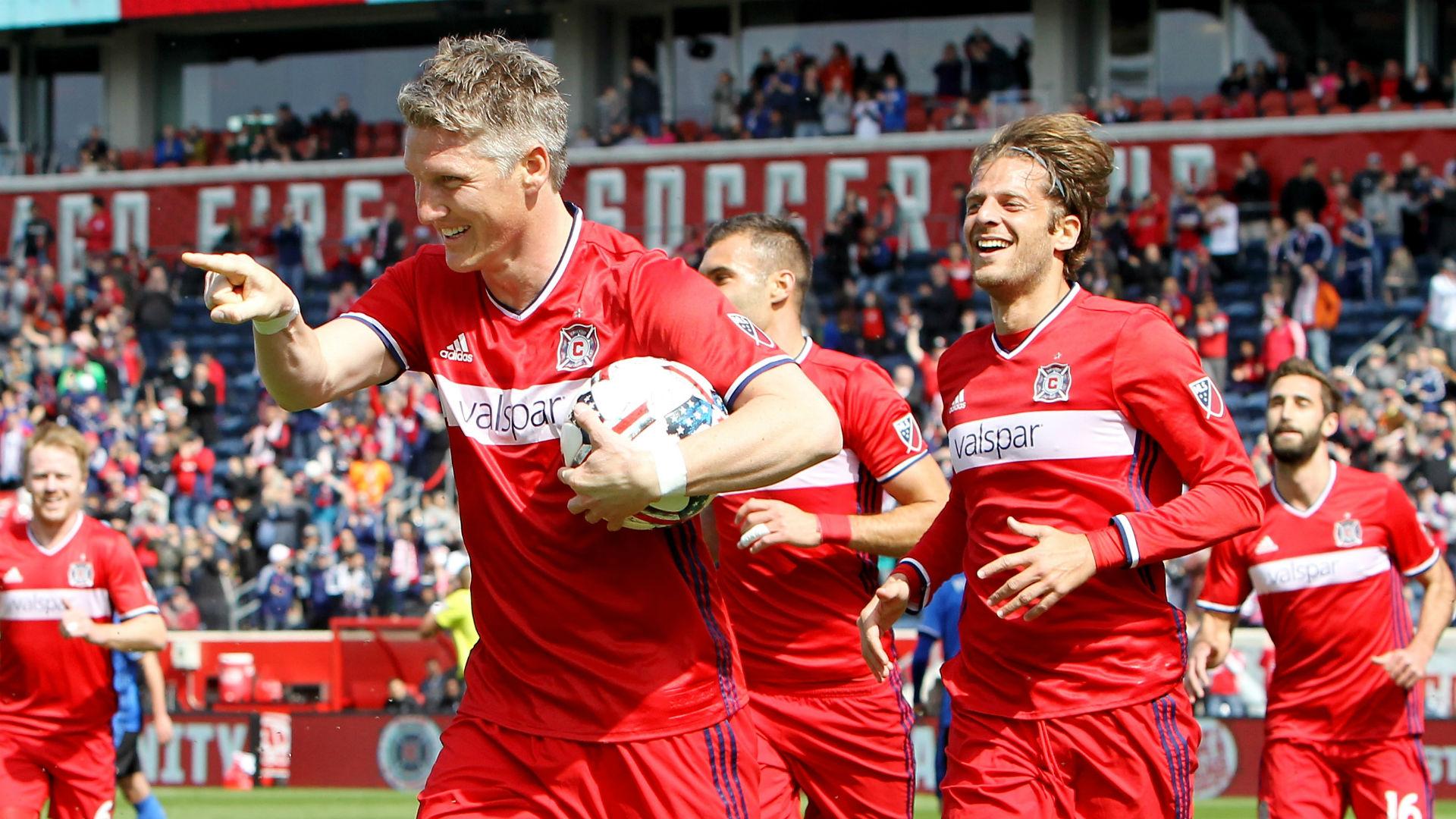 Bastian Schweinstieger goal celebration Chicago Fire MLS 040117
