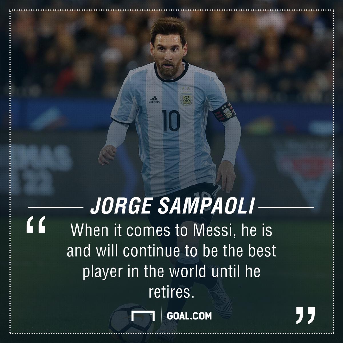 Jorge Sampaoli Lionel Messi