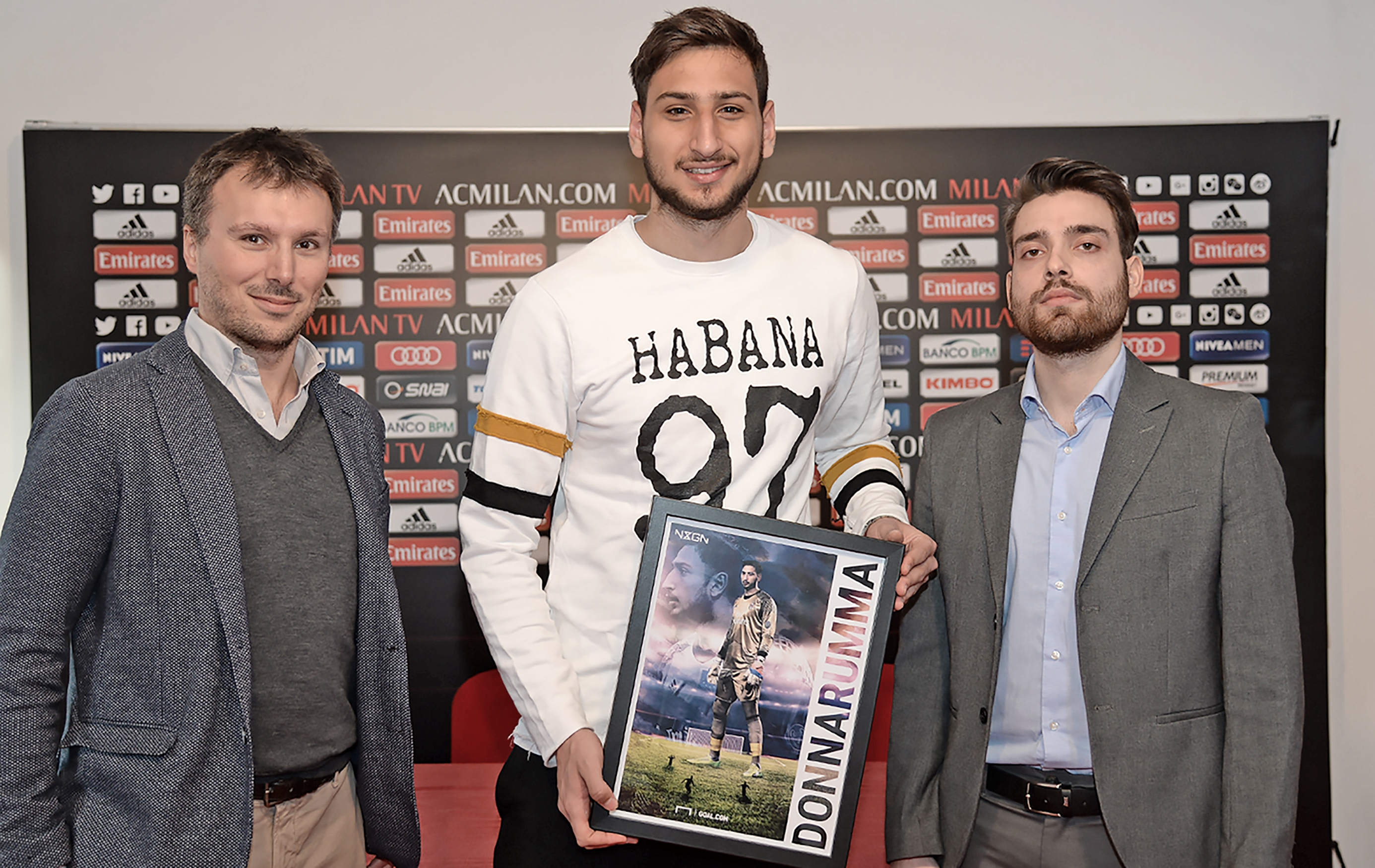 NxGn Gianluigi Donnarumma con Federico Casotti e Simone Gambino