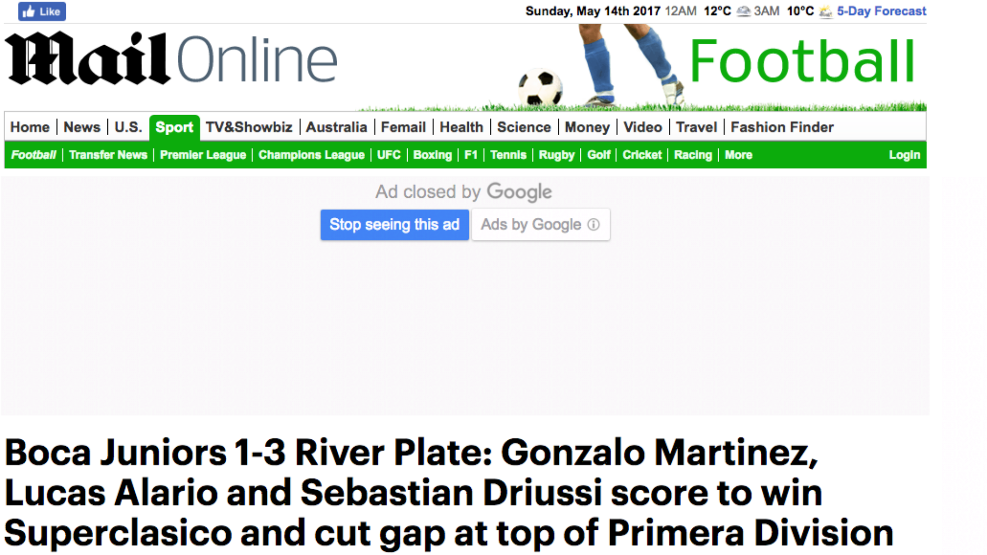 Daily Mail Superclasico
