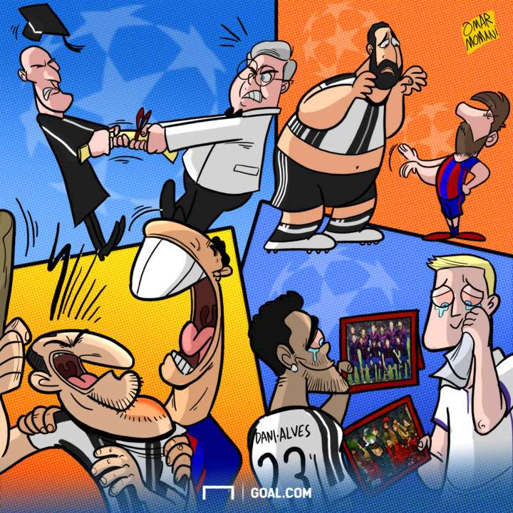 Cartoon Champions League quarter final 2017
