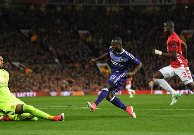 Frank Acheampong's Europa League dream ends at Manchester United