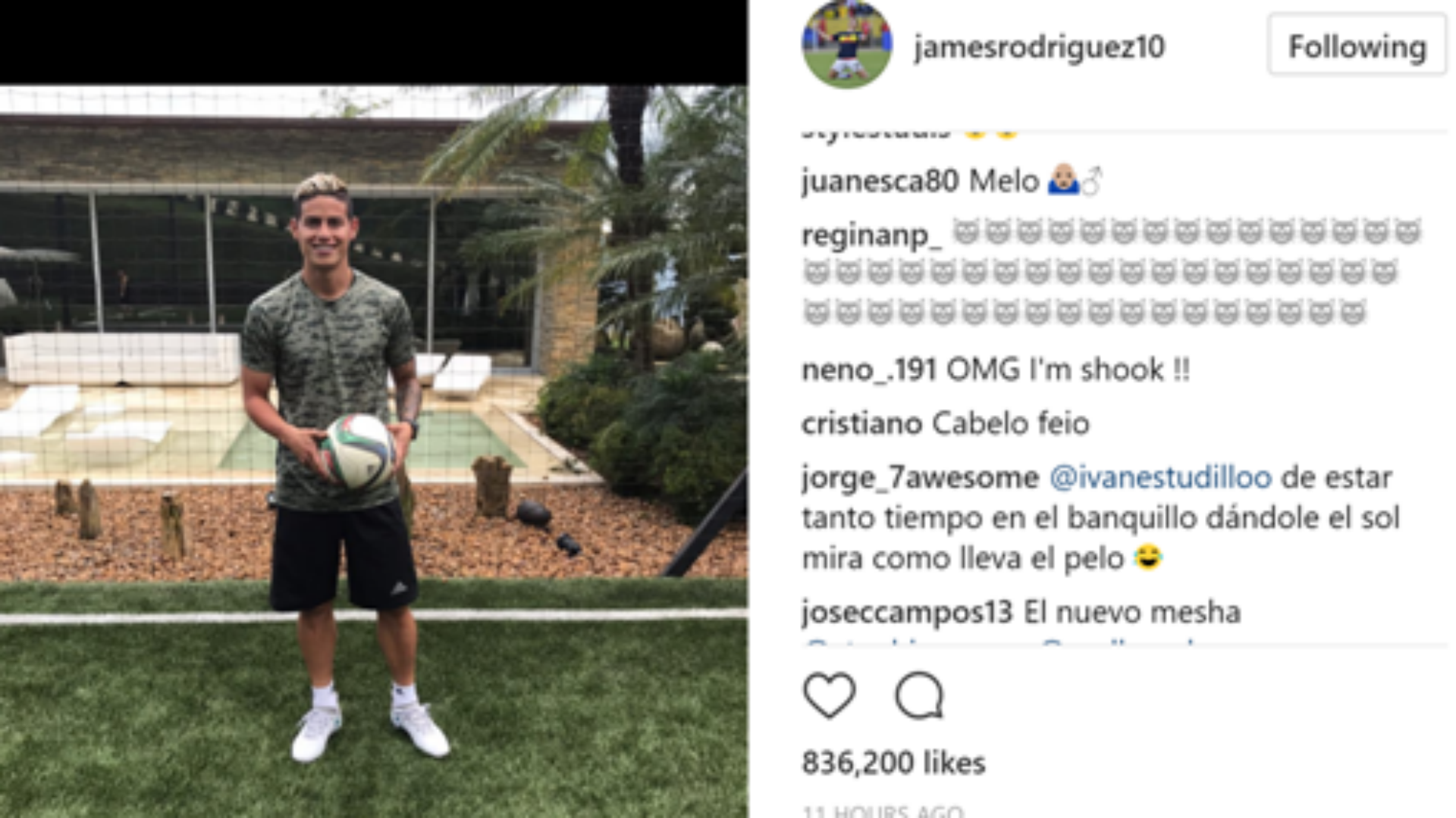James Rodriguez Cristiano Ronaldo hair