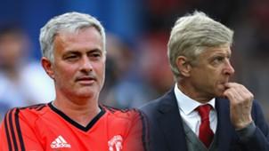 Mourinho, Wenger SPLIT
