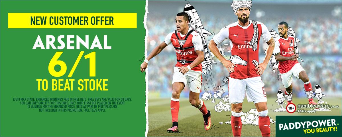 GFX Arsenal Stoke enhanced betting