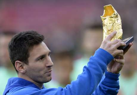 Messi claims fourth Golden Shoe award
