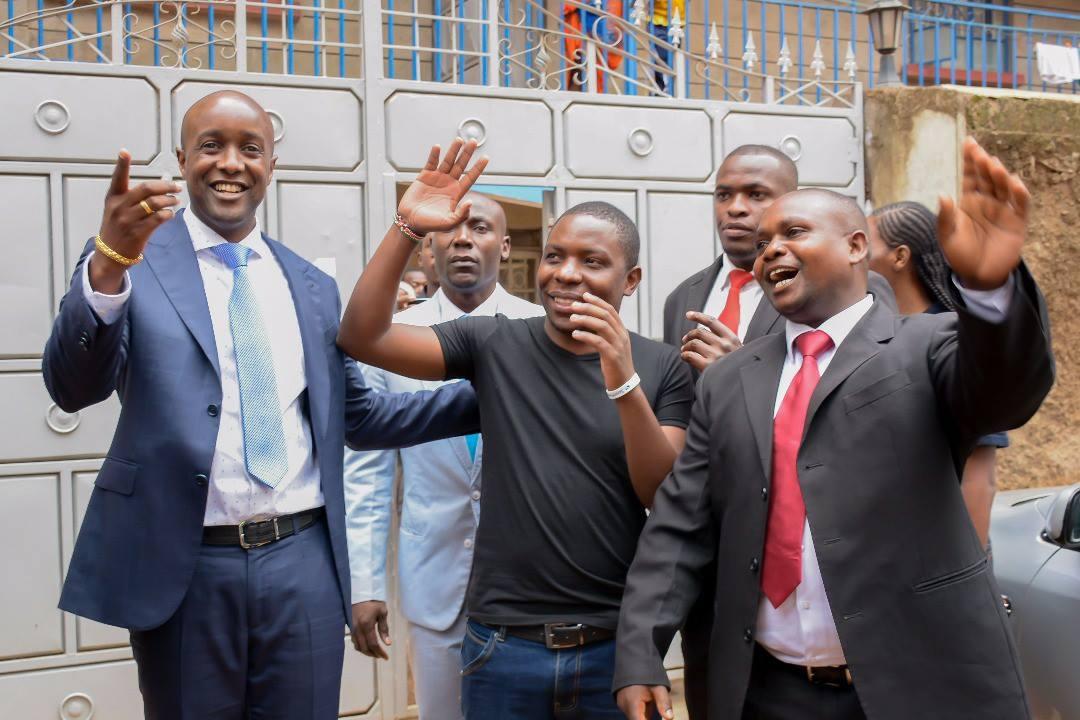 SportPesa Jackpot winner Samuel Abisai with CEO Ronald Karauri