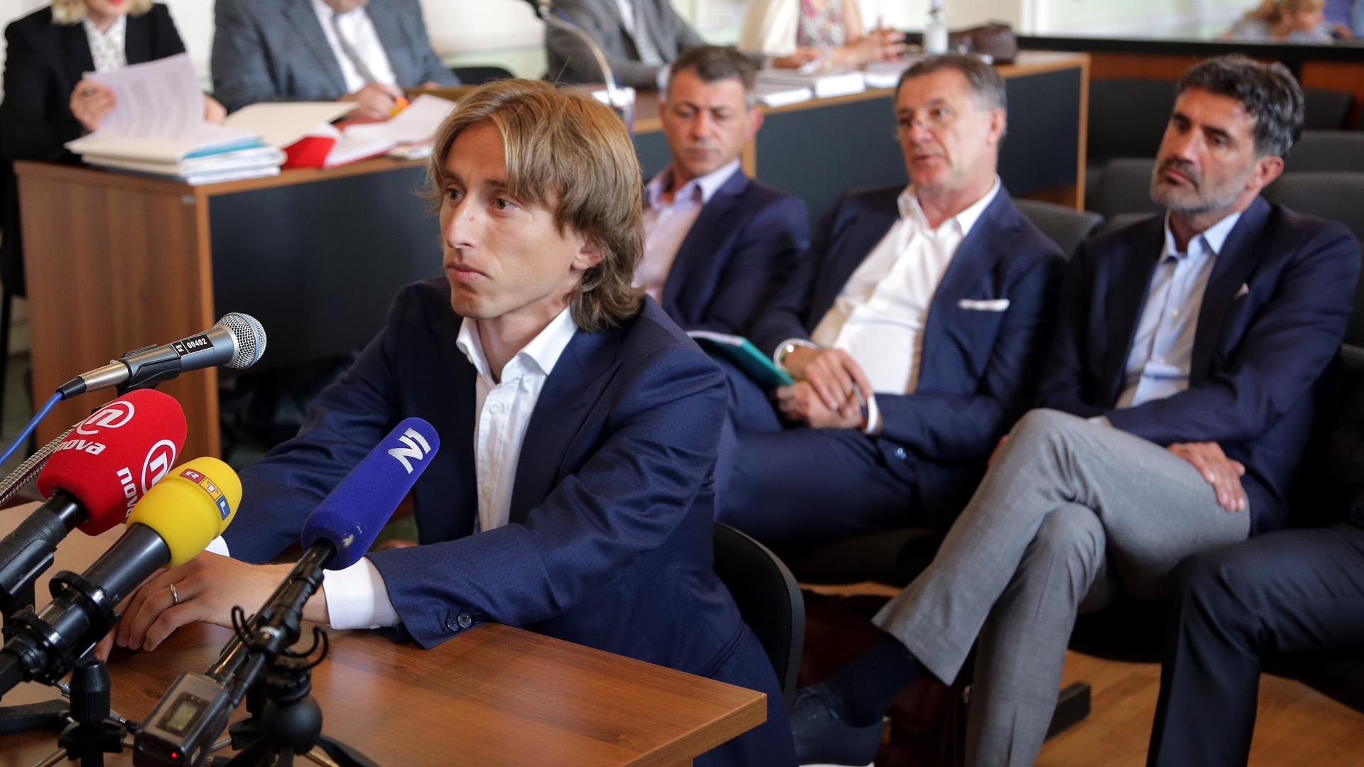 Luka Modric, del Real Madrid, es investigado en Croacia por falso testimonio