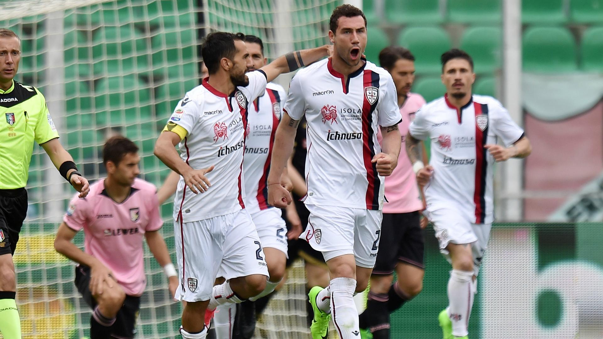 Marco Sau Artur Ionita Palermo Cagliari Serie A 03022017