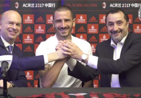 Il Milan presenta Bonucci: avrà il numero 19