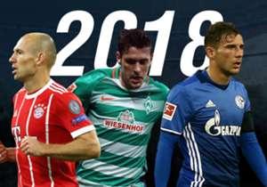 Viele Bundesliga-Spieler gehen in ihr letztes Jahr mit laufenden Vertrag. Goal zeigt euch, welche Spieler 2018 ablösefrei zu haben sind.